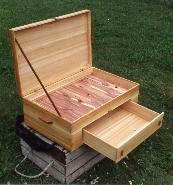 This cedar box had to be large enough to store an eagle s wing when